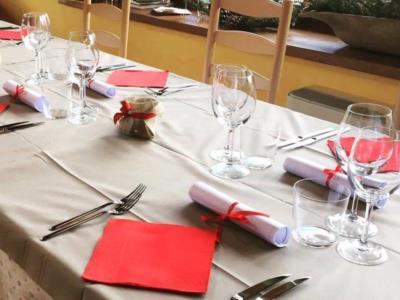 Sala del ristorante il Grop presso il Campeggio Spin di Ovaro