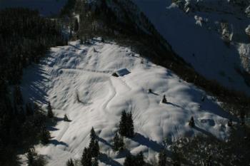Malga with snow