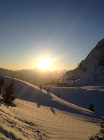 Sunset on Mount Zoncolan